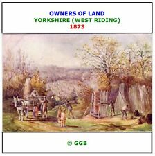 West Riding of Yorkshire 1873: Return of Owners of Land CD ROM
