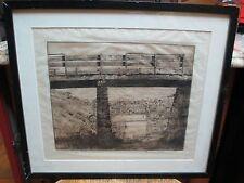 Branson Graves Stevenson Etching Morelli's Bridge Montana