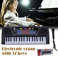 UN3F Kids Childrens 37 Key FM Radio Electronic Keyboard Piano Musical Toy Mic
