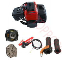 2 Stroke 50cc 47 49cc Engine Motor + GEAR BOX+ Chain+ Throttle Grips +Kill Swith