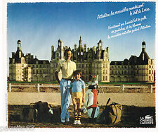 PUBLICITE ADVERTISING 065  1974  LACOSTE  pulls pantalons blousons VAL DE LOIRE