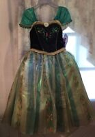 Disney Store 2014 Frozen ANNA DELUXE Coronation Dress Costume 7/8 Loose Fit NWT
