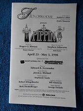Pippin - Fulton Opera House Theatre Playbill w/Ticket - April 25th, 1998