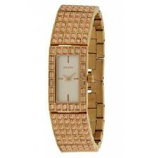WOMEN'S DKNY ROSE GOLD COLOURED HALF BANGLE ENCRUSTED WATCH NY8440  NEW!