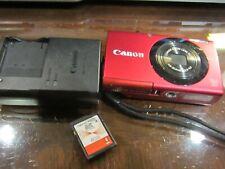 Canon PowerShot A3400 IS HD 5x Zoom 16MP Dark Red Digital Camera + 4GB card