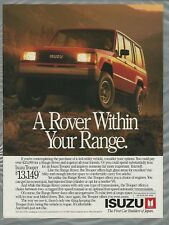 1989 ISUZU TROOPER advertisement, Isuzu ad, affordable Rover