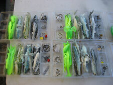 LARGE COLLECTION OF 100 FISHING LURES  RUBBER, HOOKS