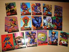 Fleer 95 Ultra Sammelkarten X-MEN Marvel Wolverine Beast Magneto Phoenix COMIC
