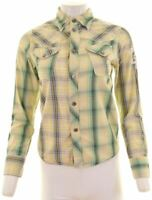 DIESEL Womens Shirt Size 16 Large Multicoloured Check Cotton  FI07