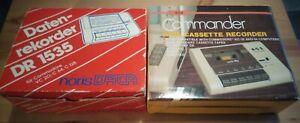 2x DATASETTE von NORIS DATA & COMMANDER für COMMODORE VC20 C64 C128 C16 PLUS/4