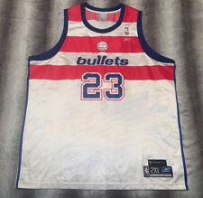 Men's Reebok NBA Washington Bullets Michael Jordan Jersey Size XX Large NEW