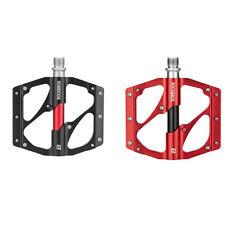ROCKBROS Pédales Vélo VTT Antidérapantes Plates en Aluminium Roulements