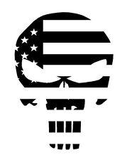 Skull Punisher USA Flag Funny Vinyl Decal Sticker Car Truck ATV Boat 12 colors