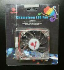 New Coolmax Computer PC Case Fan Molex Chameleon 7 Color LED 80mm Retail Pack