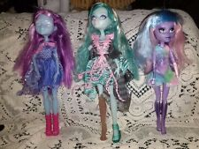 Lot of 3 Monster High Dolls River Styxx  Kiyomi, Haunterly,  VANDALA DOUBLOONS