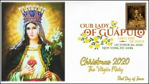 20-262, 2020,Our Lady of Guapulo, First Day Cover, Digital Color Postmark, Chris
