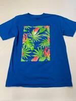 Mens ADIDAS Blue Cotton Graphic T Shirt Sz L