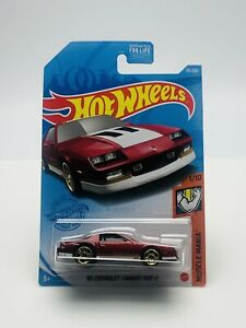 Hot Wheels 85 Chevrolet Camaro IROC-Z #191 1/10 Muscle Mania 2021  Red New.