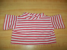 """15-18"""" CPK Cabbage Patch Kids RED STRIPE STRIPES STRIPED KNIT TEE SHIRT"""