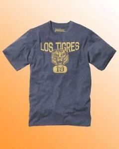 *New* Jacamo Mens Blue Marl Tiger Graphic Print Logo T-Shirt Regular Size L UK