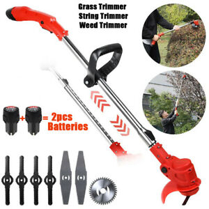 Electric Grass Trimmer Weed Edger Lawn Mower Cordless String Trimmer Battery Kit
