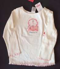 Gymboree PRIMA BALLERINA  Ivory Tee NWT Size 3 Ballerina In A Jewelry Box