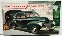 1939 Mercury Eight 8 Dealer Color Sales Brochure Folder Large Original