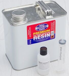 Baileys Premium Fibreglass Polyester Resin 2.5 kg Inc Catalyst Lloyds Approved