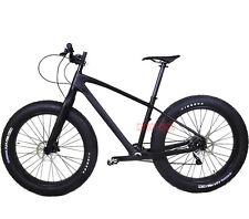 """26er Carbon Fat Bike Frame Fork Wheel THRU AXLE BSA UD Matt Tire 4.0"""" Shimano10s"""