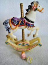 Rocking Carousel Horse Hinged Trinket Box W/Trinket NIB Free Shipping