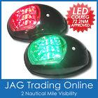 LED NAVIGATION LIGHTS BLACK HOUSINGS USCG -Port/Starboard Marine/Boat/Yacht Nav