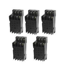 5 Pcs Dyf 11a 11 Pin Power Relay Base Socket Din Rail Mountkd