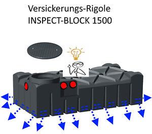 1500 l Versickerungsrigole Regenwasser Versickerung Sickerbox mit Zugang DN600