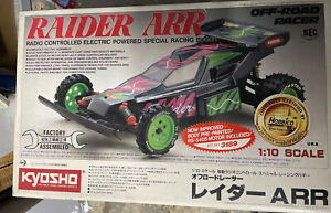 Kyosho Raider ARR Vintage Rare With Remote 1/10 Runs With Battery RC Buggy Car