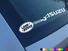 LANDROVER TOWING ISUZU CAR STICKER FUNNY DECAL 4X4 DISCOVERY TD5 300TDI OFFROAD
