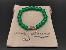 DAVID YURMAN Spiritual Bead Bracelet Sterling Silver With Green Onyx 8mm