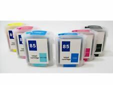 Refillable Ink Cartridges SET For HP 84 85 DesignJet 30 30n 90 130gp 130nr 130r