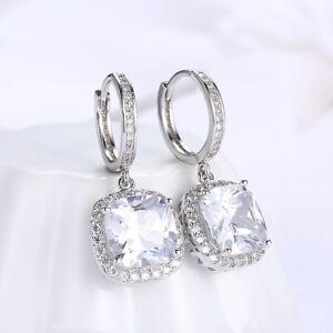 Sterling Silver Opal & White Sapphire Drop Fashion Earrings