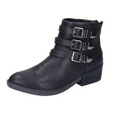 e736ec72b9 scarpe donna FRANCESCO MILANO 35 EU stivaletti nero tessuto BR32-35