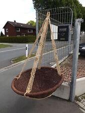 Gartenschaukel Schaukel Korb Garten Rattan Holz Aufhängbar Neu ... Schaukel Im Garten Rattan Holz