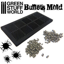BULLETS Textured Stamp RUBBER MOLD - Polymer Clay Shells Cartridge Modelling 40k