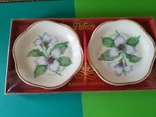 2 Royal Worcester SPODE PALISSY Small Plate White Trillium NOS