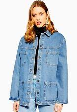 New Topshop Oversized Denim Shirt Jacket UK 10