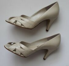 Jane Debster Tan  Open Toe Leather Shoes Size: 6 Made in Brazil