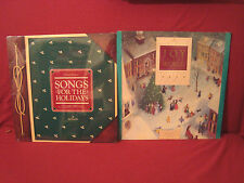 2 NEW SEALED CHRISTMAS LPS JOY TO THE WORLD SONGS FOR THE HOLIDAYS