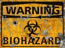 Warning Biohazard THICK Sign - Halloween Decor Prop Road and Lawn Decoration