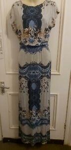 Chelsea Girl River Island Multicoloured Sleeveless Maxi Dress Size 10