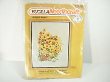 Bucilla Needlecraft Crewel Embroidery #2869 Bunny's Basket Unopened