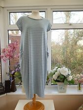 *UNBRANDED* ITALY BLUE/GREY LAGENLOOK QUIRKY SLOUCH DRESS JERSEY COTTON ONESIZE