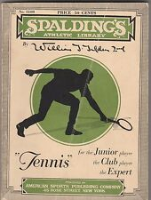 1931 Spalding's Tennis Instructions,by Bill Tilden